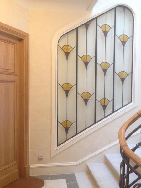 r novation cage d 39 escalier paris 6e. Black Bedroom Furniture Sets. Home Design Ideas