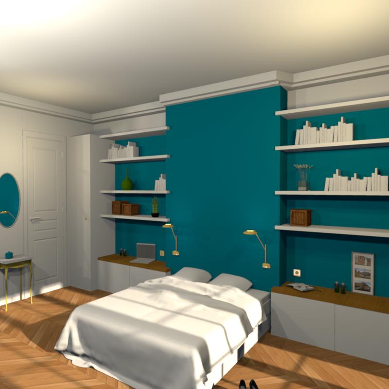 Les maquettes 3d for Conception chambre 3d