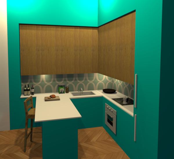 Les maquettes 3d for Maquette cuisine 3d